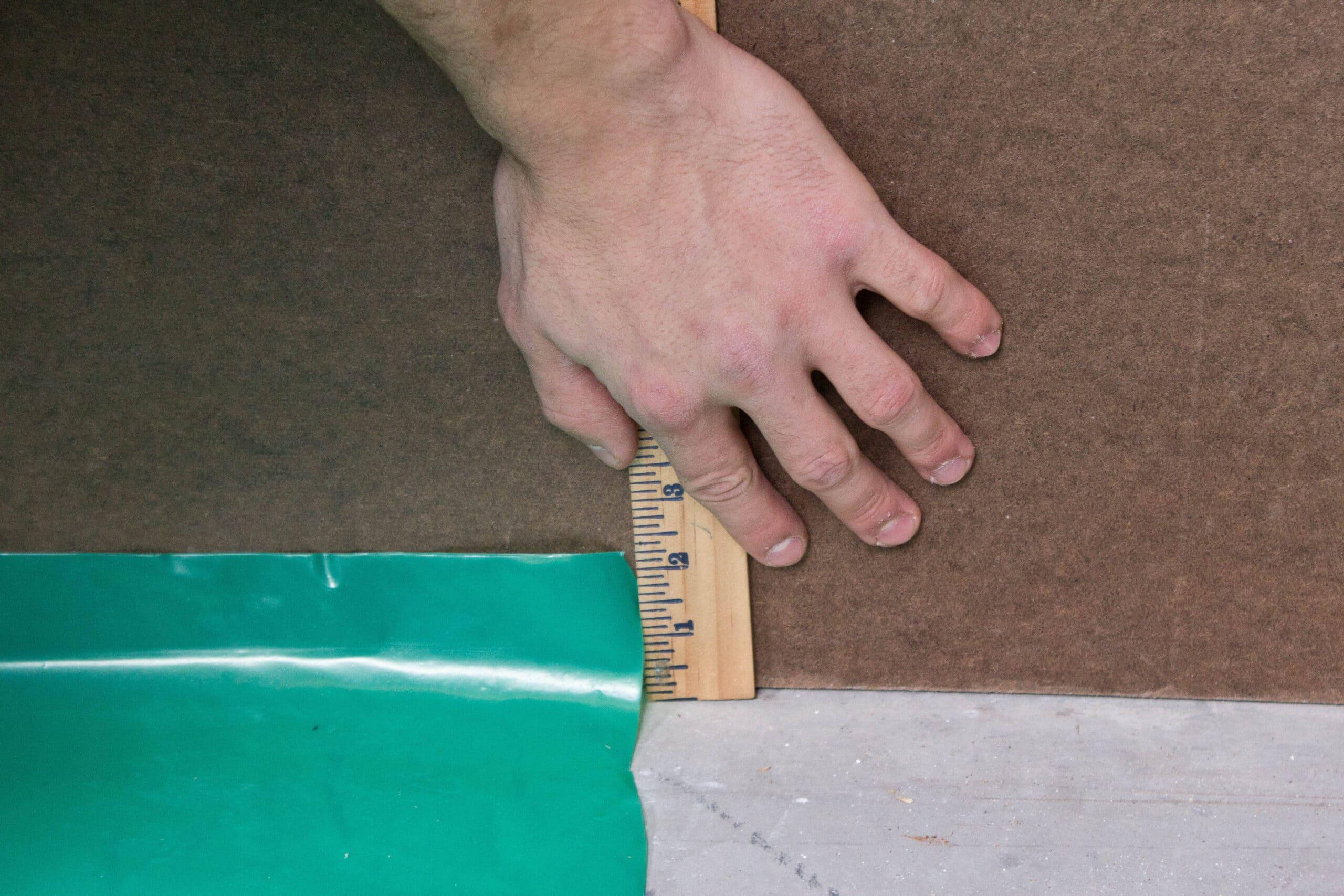 Seal the edge of Visqueen 6Mil PE Vapor Barrier