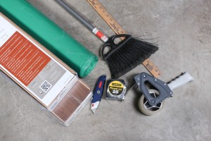 Tools and supplies you need for Installation of Visqueen 6Mil PE Vapor Barrier