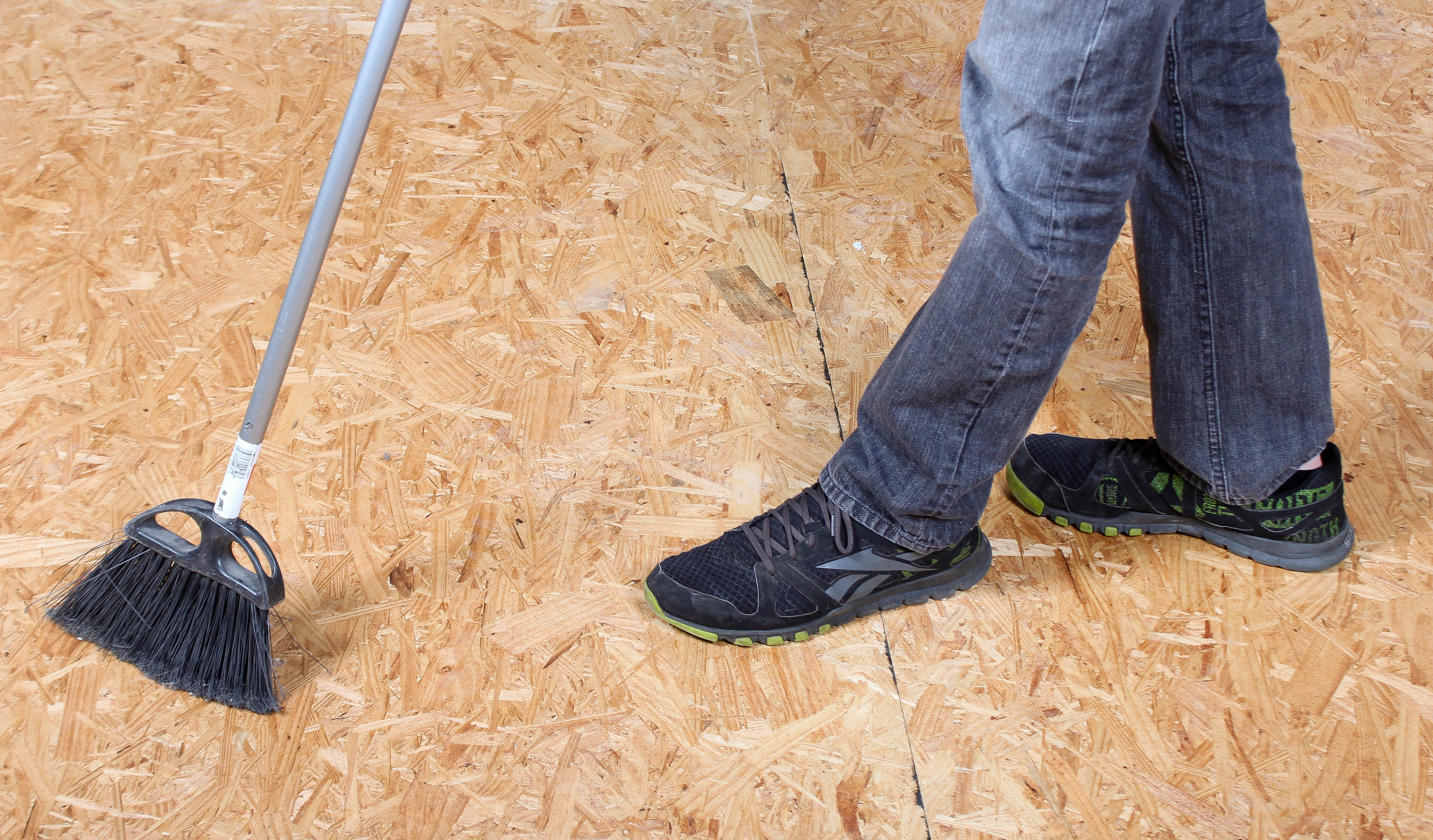 Clean your subfloor before Standard Flooring Underlayment installation