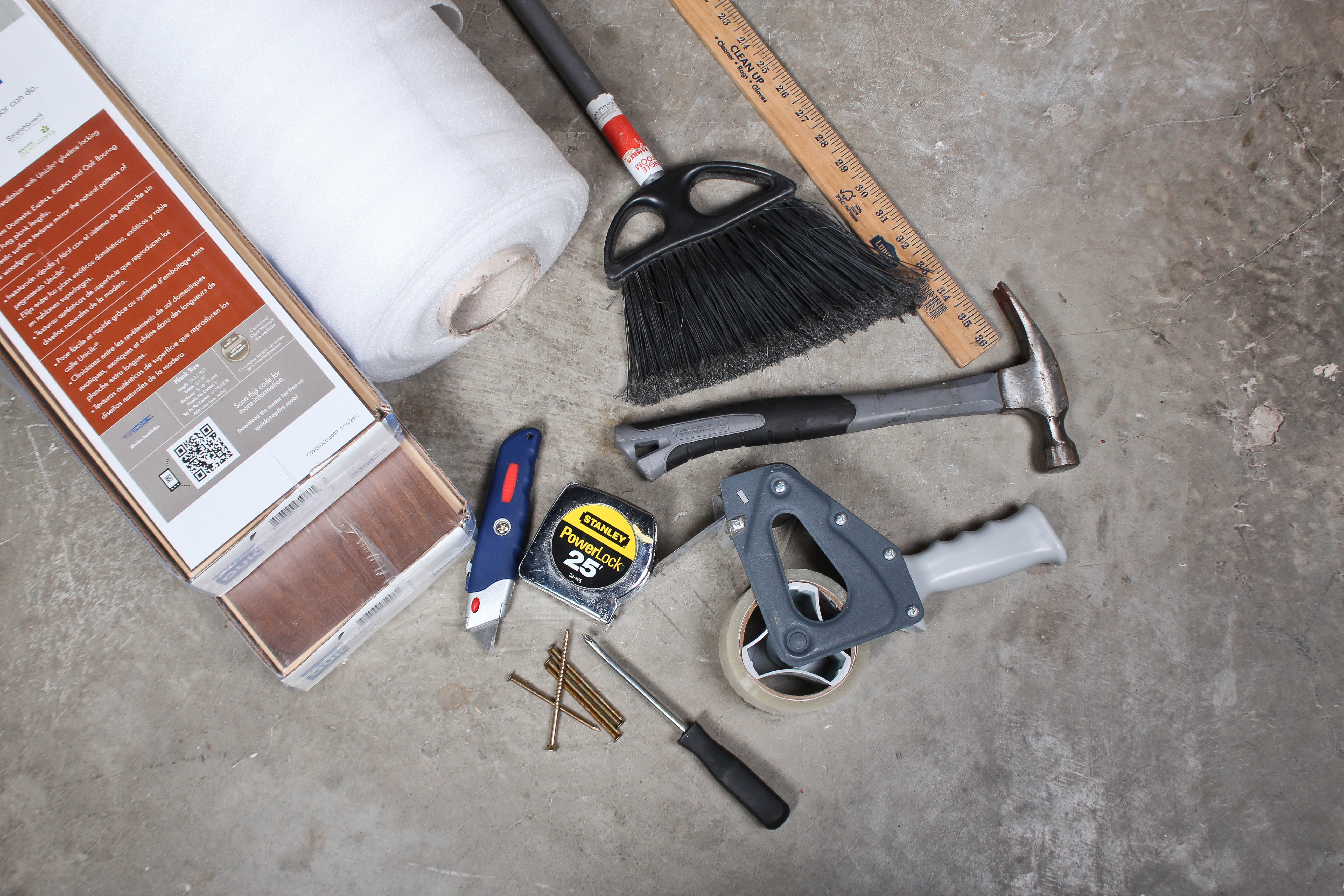 Tools You Need to Install Standard Flooring Underlayment