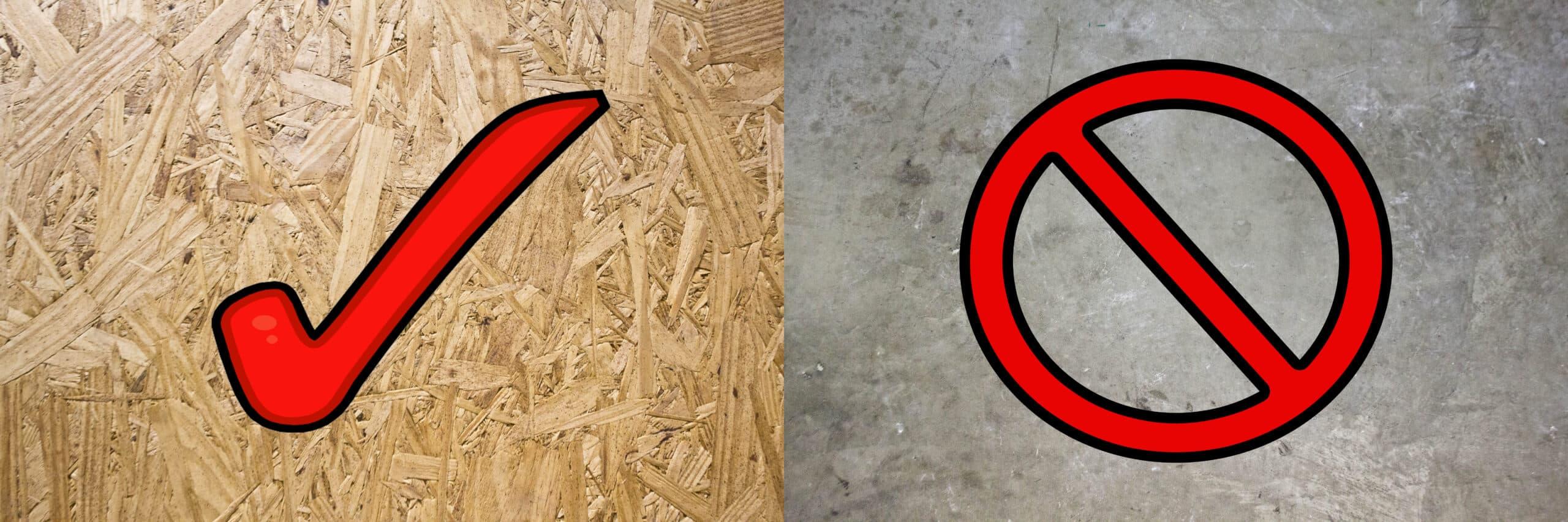 Standars Underlayment is suitable for wood subfloor installation