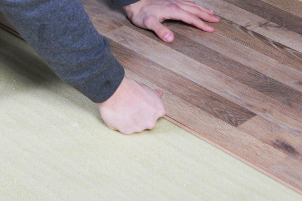 How To Install 2in1 Vapor Barrier Underlayment: Install your floor on the top on the underlayment