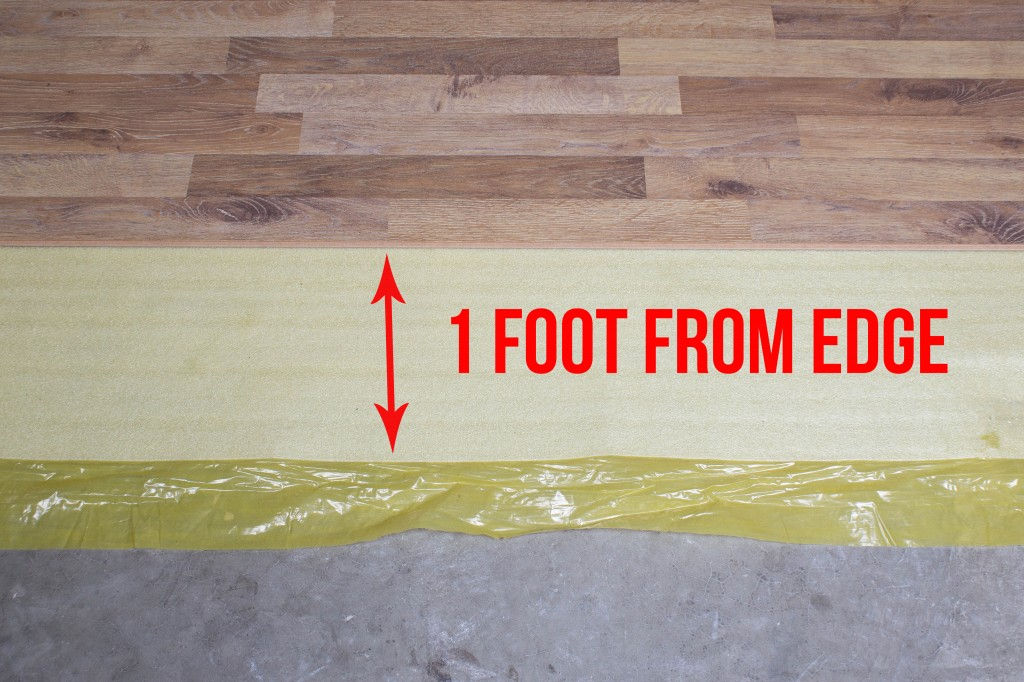 How To Install 2in1 Vapor Barrier Underlayment: Stop installing your flooring when you are 1 foot from the edge of the underlayment