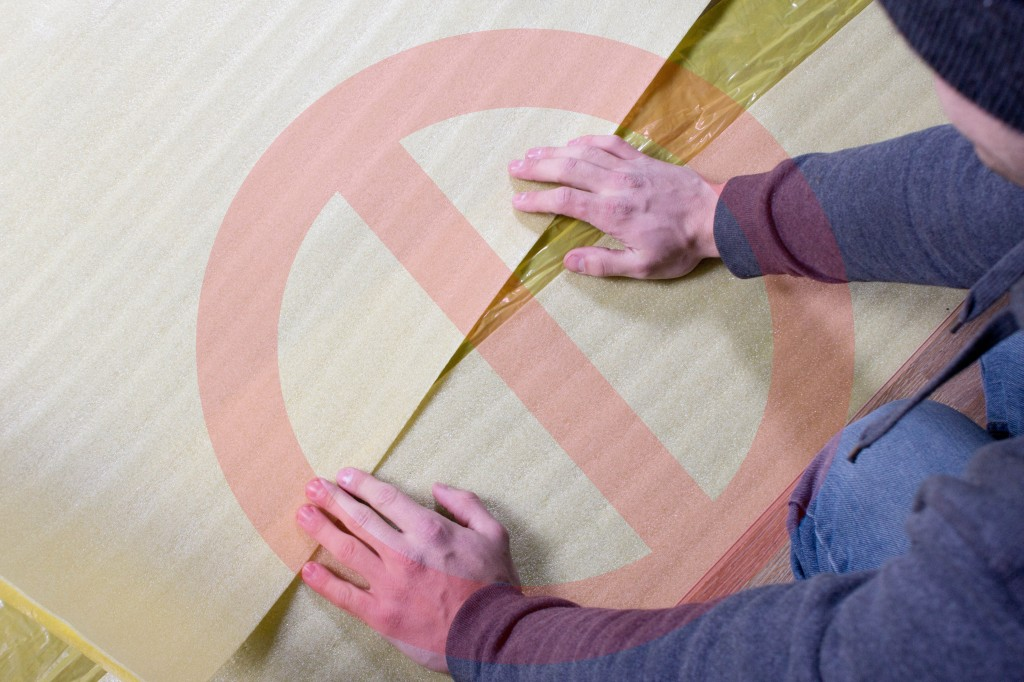 How To Install 2in1 Vapor Barrier Underlayment: Don't overlap the foam