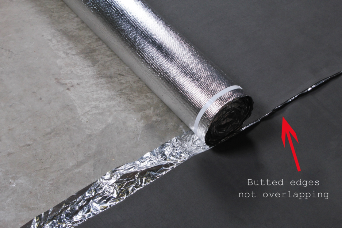 How to Install Vapor 3-in-1 Silver Underlayment - Butt the edges
