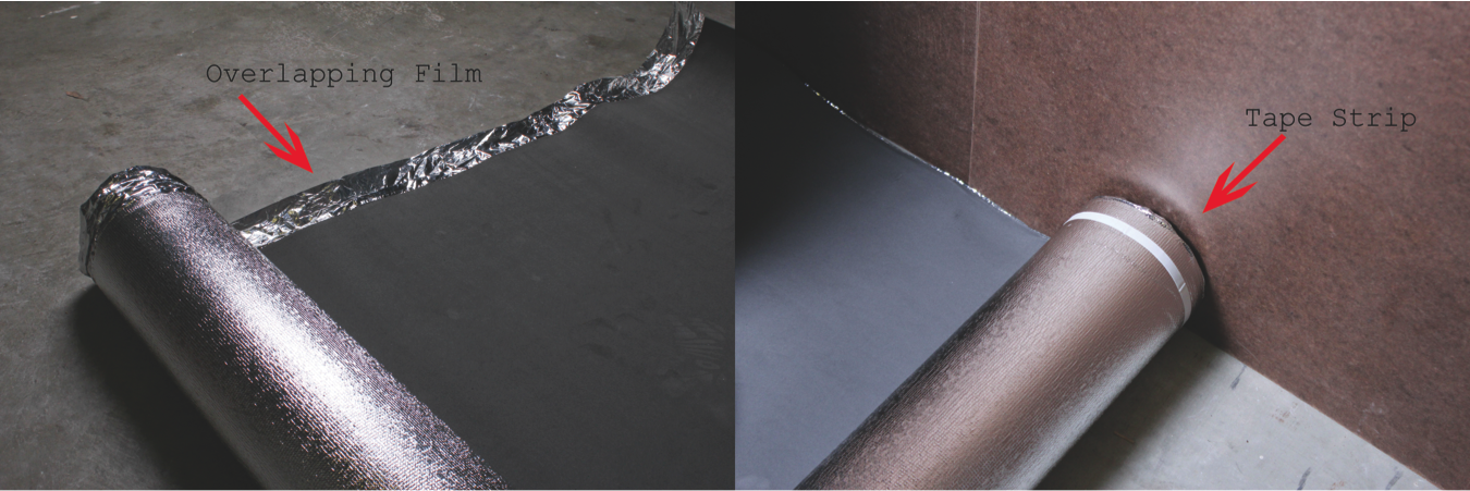 How to Install Vapor 3-in-1 Silver Underlayment - Check the sides of your underlayment