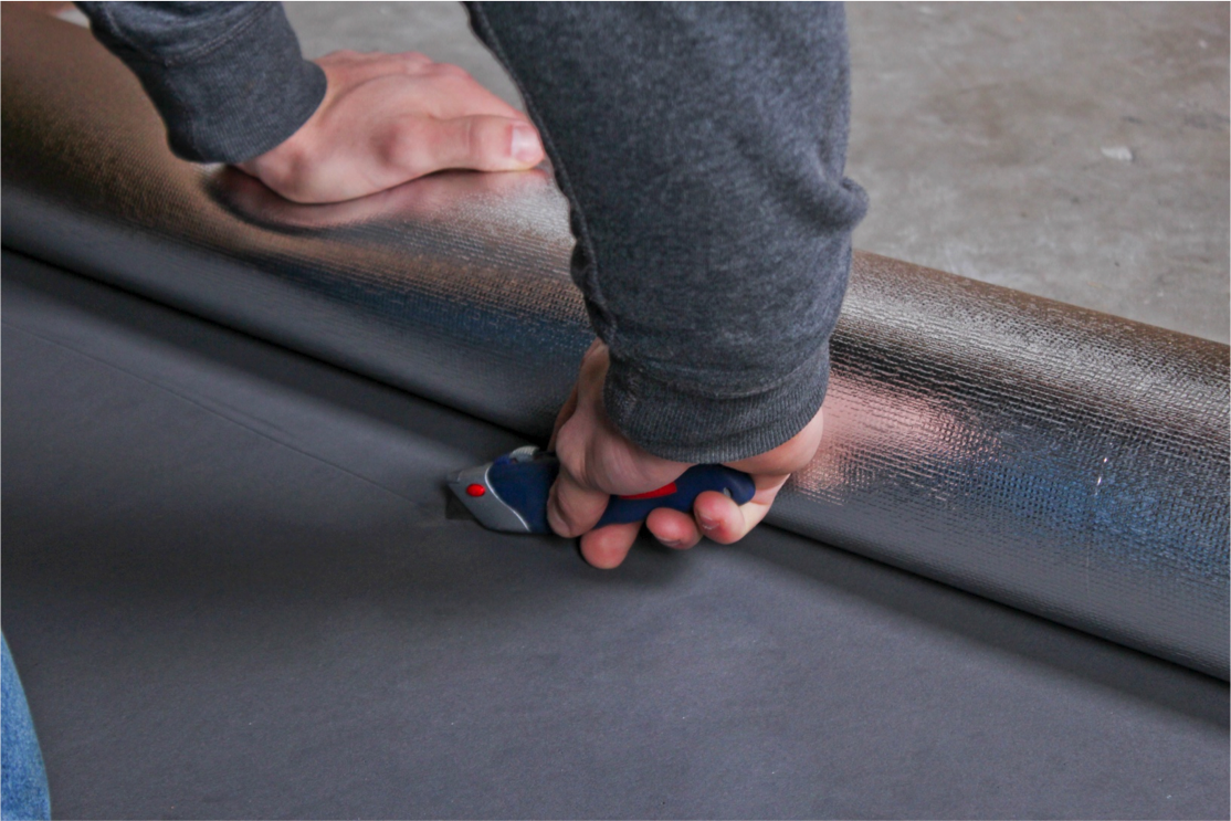 How to Install Vapor 3-in-1 Silver Underlayment - Cut and paste your underlayment
