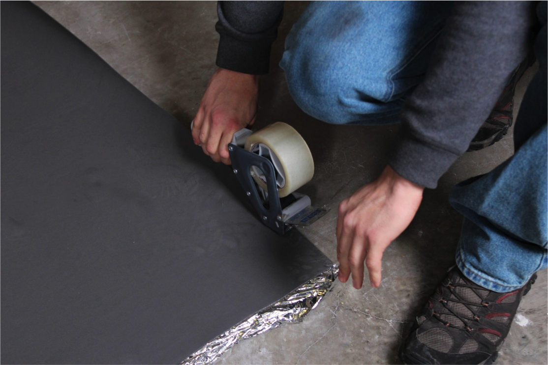 How to Install Vapor 3-in-1 Silver Underlayment - Tape your underlayment temporarily