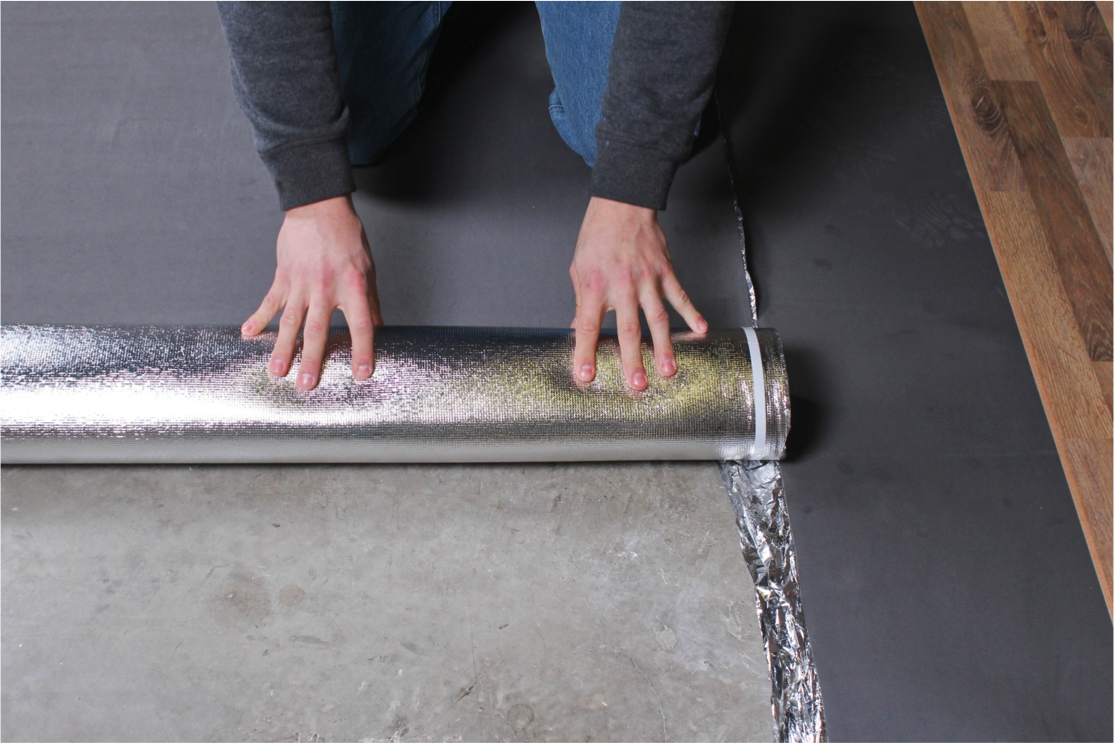 How to Install Vapor 3-in-1 Silver Underlayment - Start a new row of underlayment