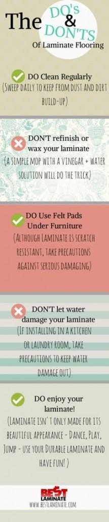 Do's & Don'ts of laminate flooring
