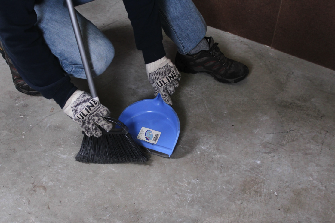Clean your subfloor before installing underlayment