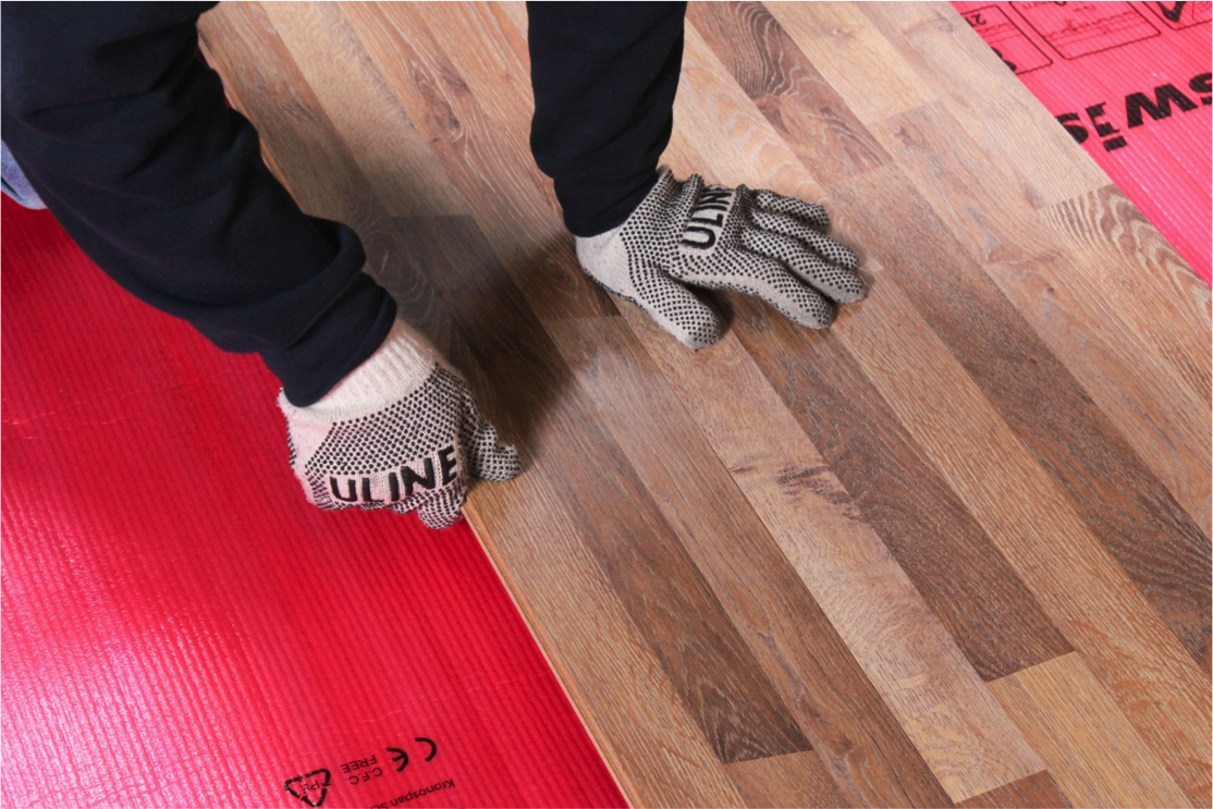 Continue installing your flooring