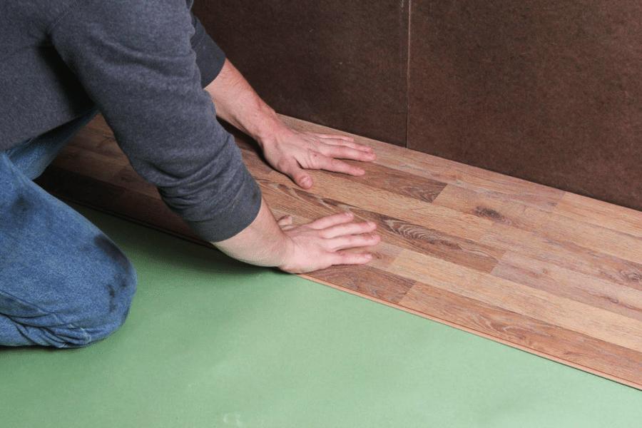 Install laminate flooring over underlayment