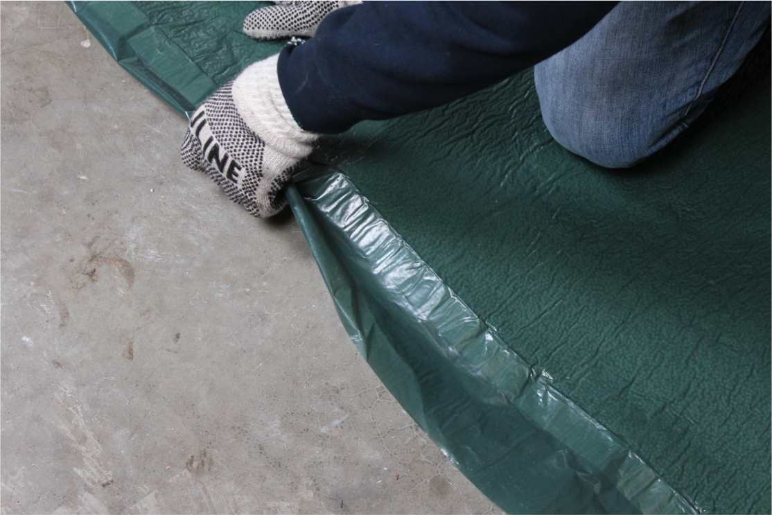 Continue rolling underlayment