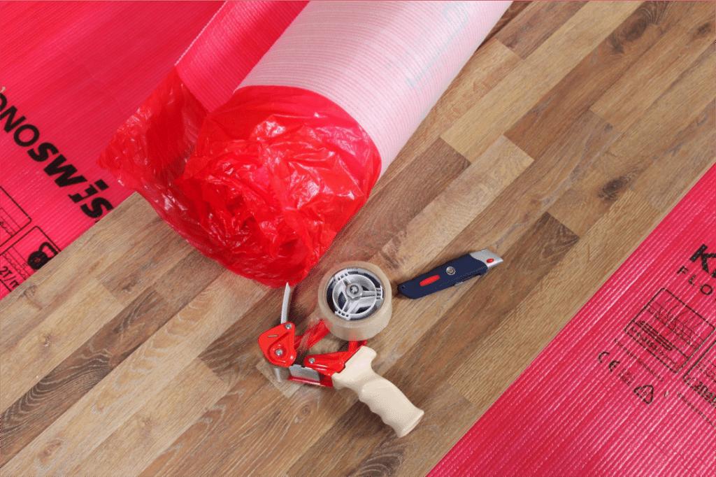Supplies for Kronoswiss Provent Vapor Underlayment installation