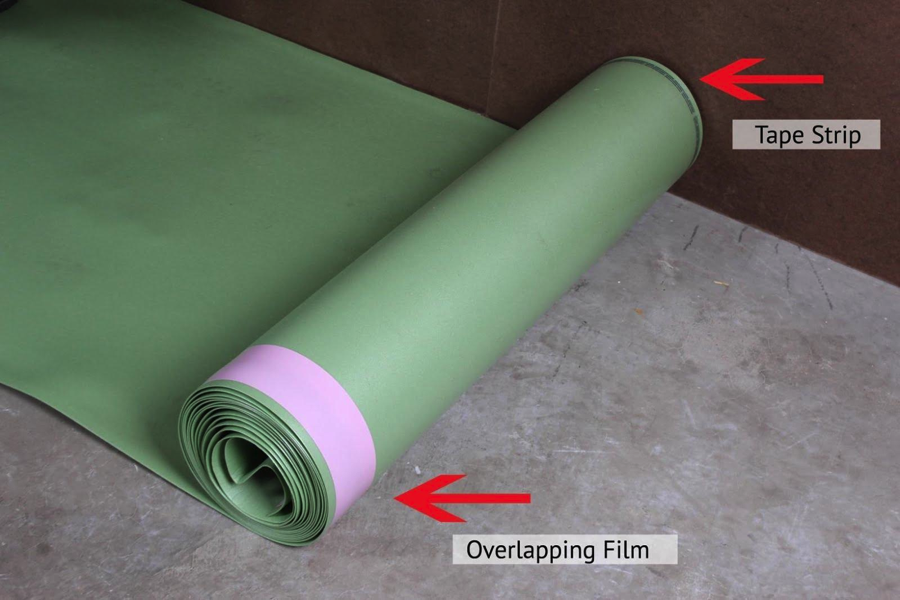 How to install floor muffler ultraseal underlayment for Opposite of floor