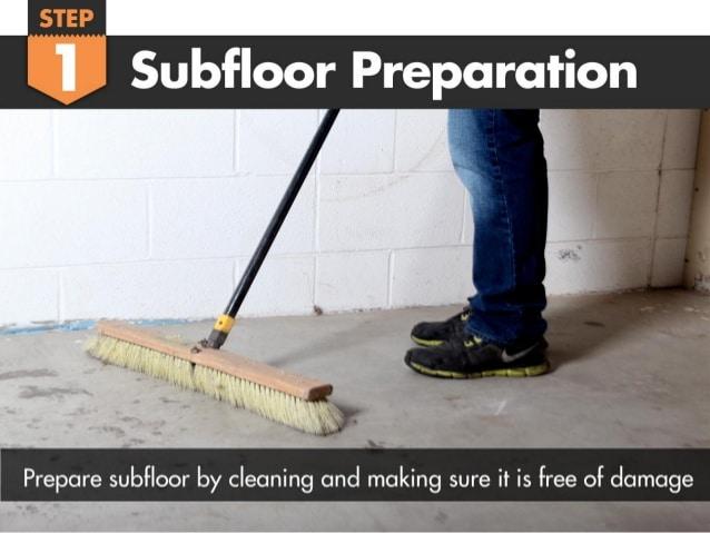 Clean Your Subfloor