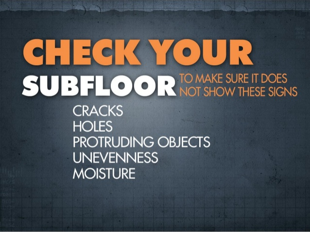 Check Your Subfloor for Damage