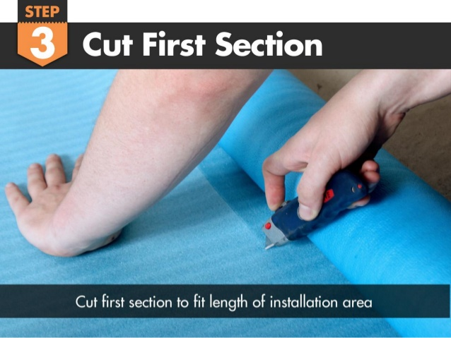 Cut Your First Section of Underlayment