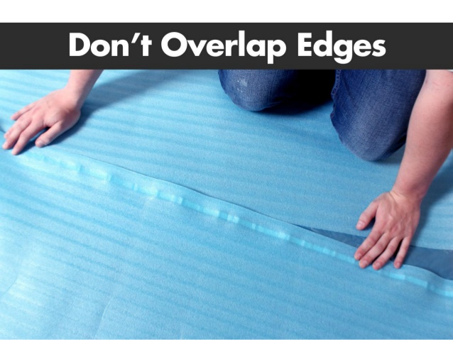 Overlapping Your Underlayment