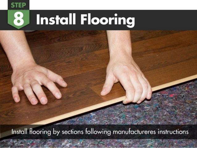 Installing flooring over underlayment