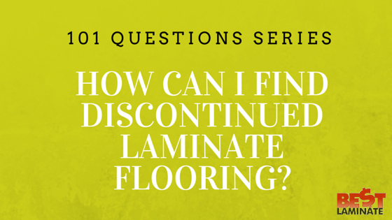How can I find discontinued laminate flooring?