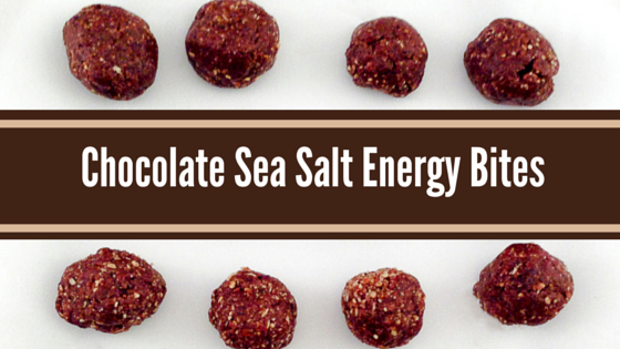 Chocolate Sea Salt Energy Bites