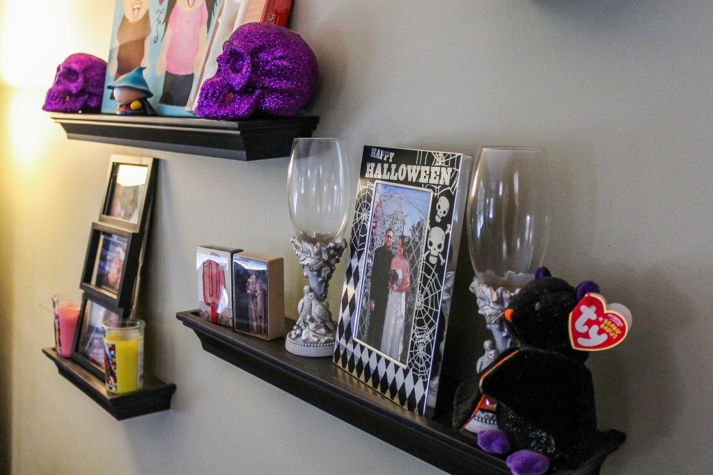 Proof that Halloween is everywhere in my home! Even our wedding picture is in a Halloween frame!