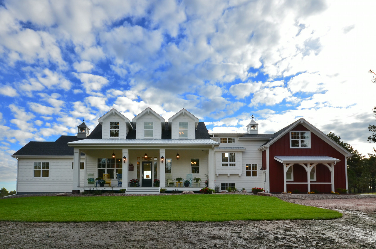 Modern meets traditional in this award winning farmhouse for Home plans farmhouse