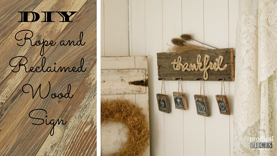 Diy Rope And Reclaimed Wood Sign