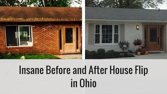 insane before and after house flip in ohio. Black Bedroom Furniture Sets. Home Design Ideas
