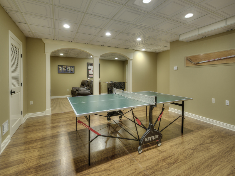 Basement Remodeling Ping Pong Table