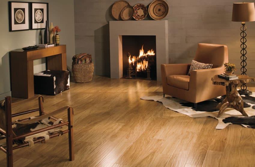Quick-Step Sculptique Russet Hickory laminate flooring