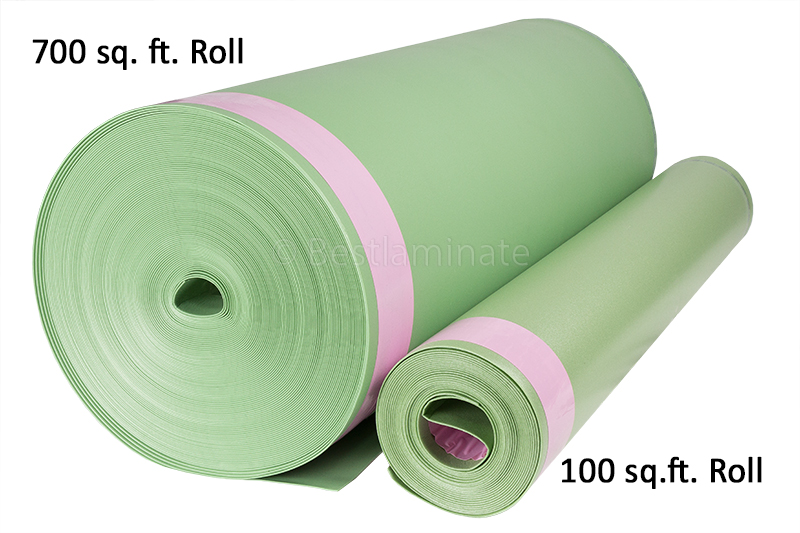 Floor Muffler 700 sq.ft. Roll and 100 sq.ft. Roll Comparison