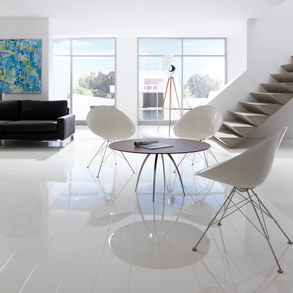 Elesgo Super Gloss White laminate flooring
