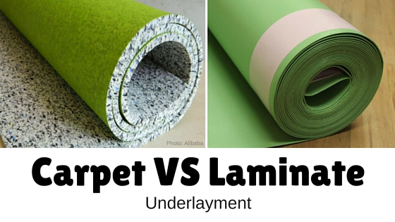 carpet vs laminate underlayment
