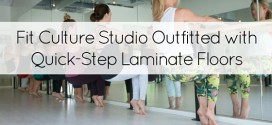 Fit Culture Studio Outfitted with Quick-Step Laminate Floors