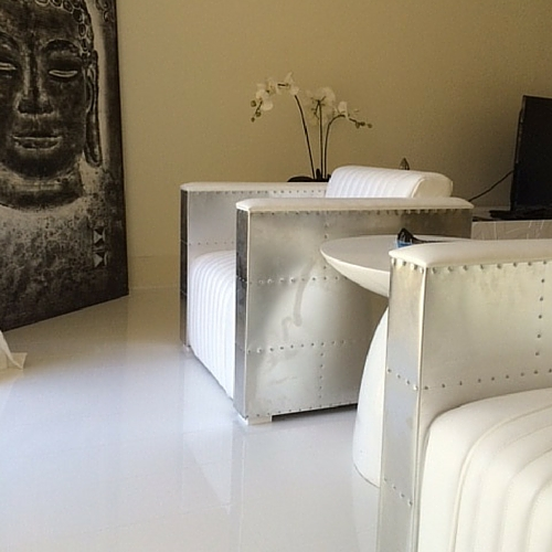 Glossy White Floor