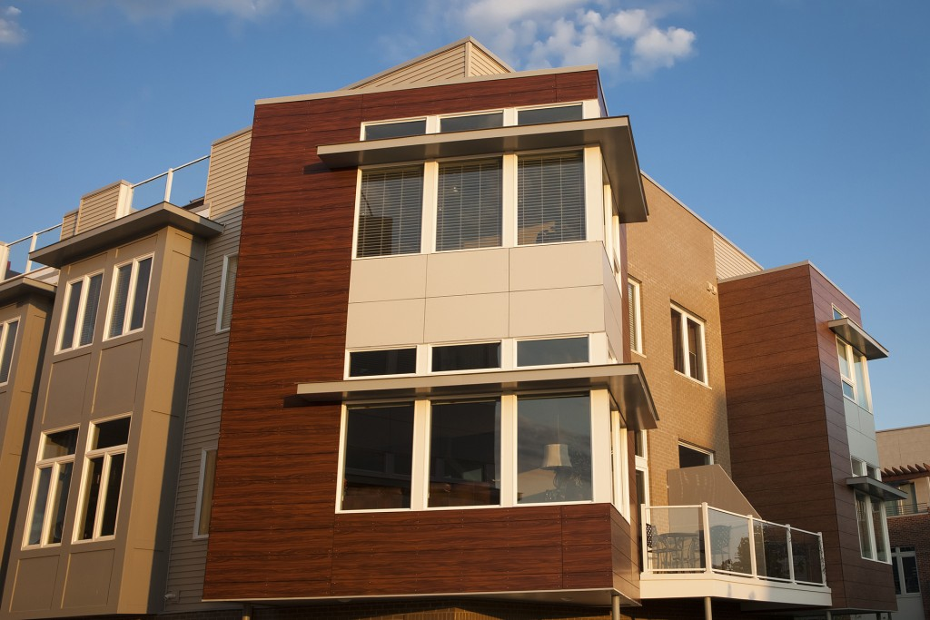 HPL Architectural Panels at Battery Park Town Homes