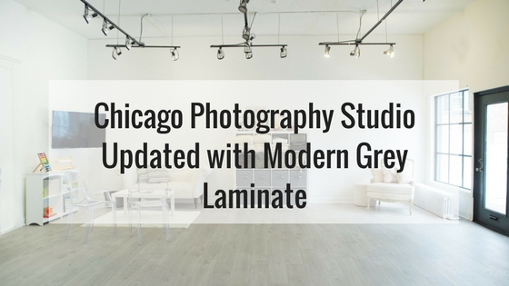 Chicago Photography Studio Updated with Modern Grey Laminate