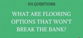 Budget Flooring Options