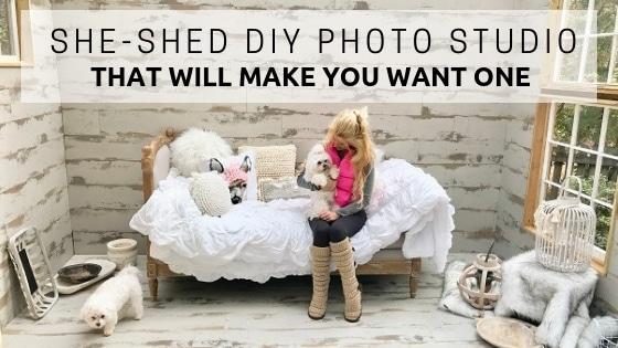 She-Shed DIY Photo Studio