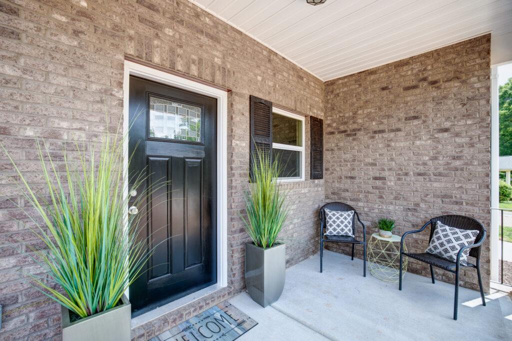 staged home front door