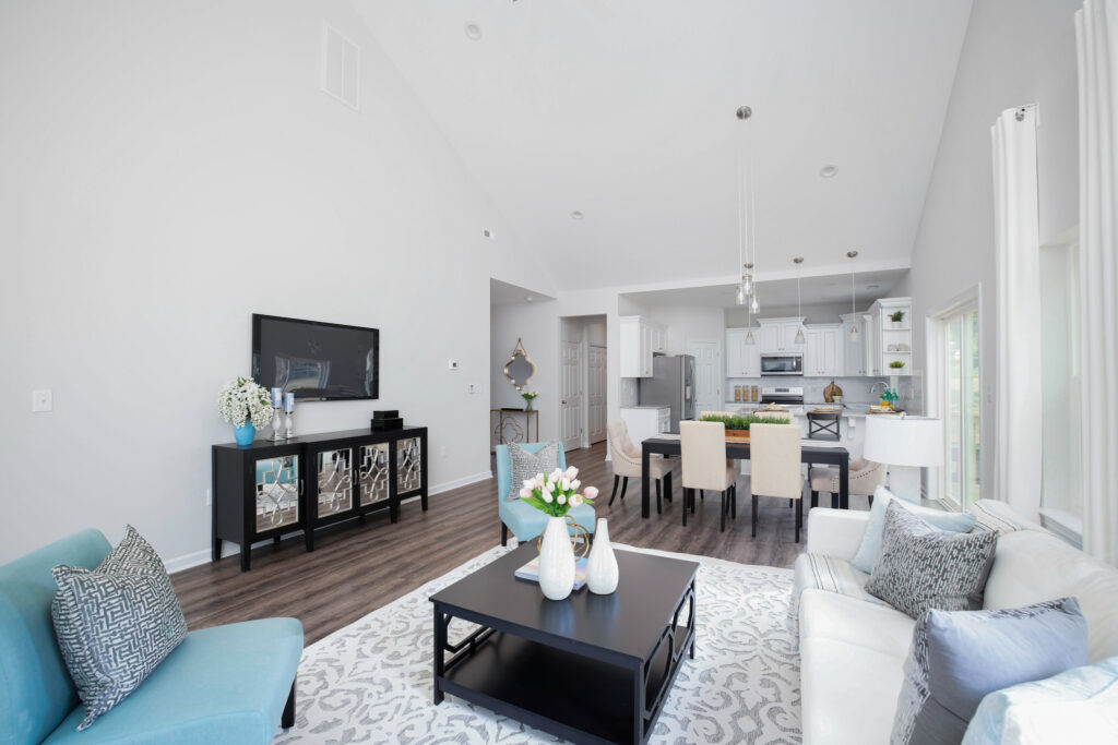 staged home living room