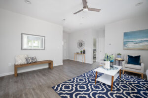 blue living room design