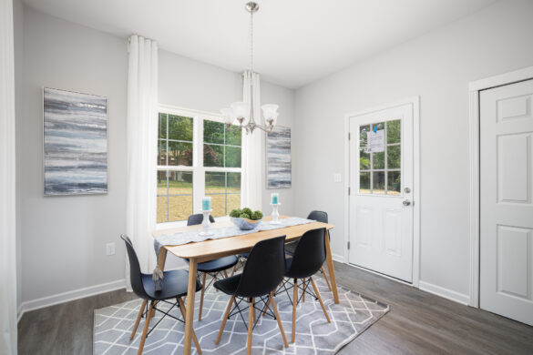 virtual home tour dining room contrast