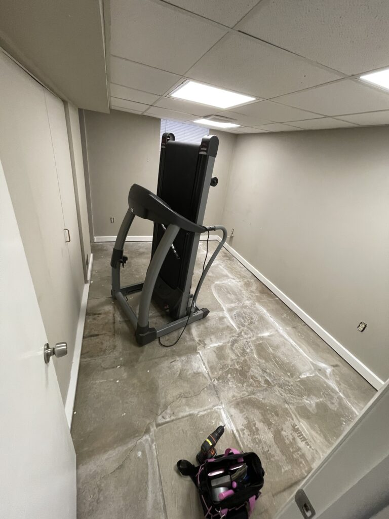 before painting affordable home gym