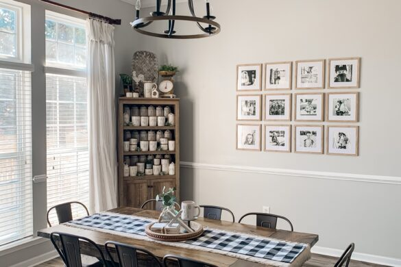 rae dunn display dining room
