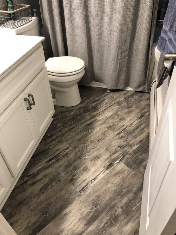 diagonal bathroom flooring