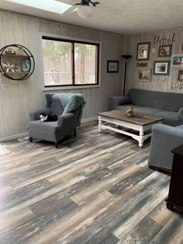 Coastal Flooring Living Room